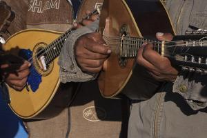 Quechua Musicians Play Traditional Andean Music at a Celebration by Beth Wald