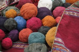 Yarns in a Myriad of Colors, from Local and Natural Dyes on Traditional Weaving by Beth Wald