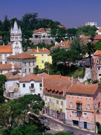 Buildings and Rooftops of City, Sintra, Portugal by Bethune Carmichael