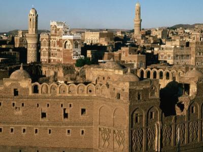 Buildings of Old Caravanassi, San'a, Yemen by Bethune Carmichael