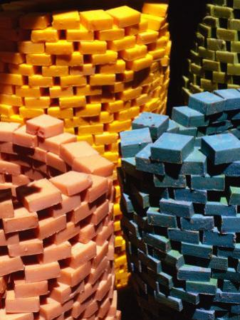 Colourful Piles of Soap for Sale at Souq, Tripoli, Lebanon by Bethune Carmichael