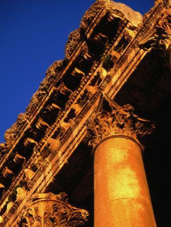 Detail of Columns and Entablature, Baalbek, Lebanon by Bethune Carmichael