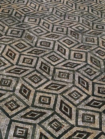 Mosaic Floor in Roman Ruins, Conimbriga, Portugal by Bethune Carmichael