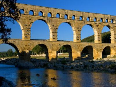 Pont Du Gard and Canoes by Bethune Carmichael
