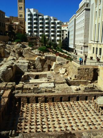 Roman Baths Uncovered During Excavations, Beirut, Lebanon by Bethune Carmichael
