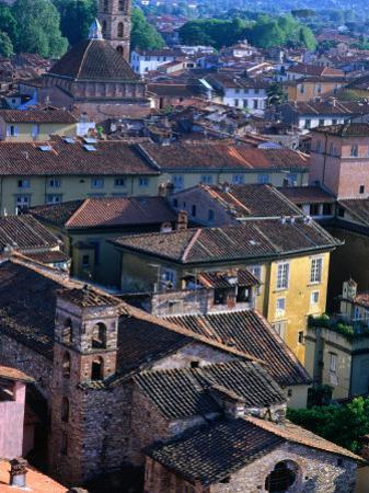 Rooftops and Buildings of Town, Lucca, Italy by Bethune Carmichael