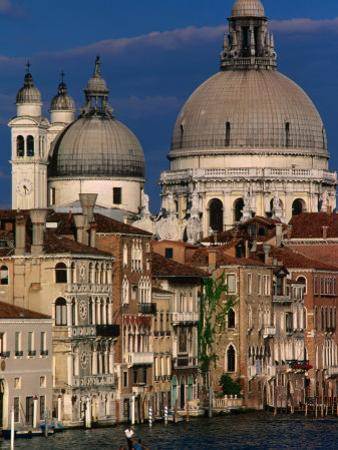Santa Maria Della Salute with Apartment Buildings in Foreground, Venice, Italy by Bethune Carmichael