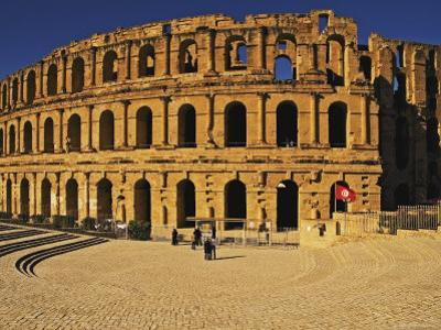 South Side of Roman Colosseum, El-Jem, Mahdia, Tunisia by Bethune Carmichael