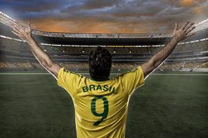 Brazilian Soccer Player by Beto Chagas