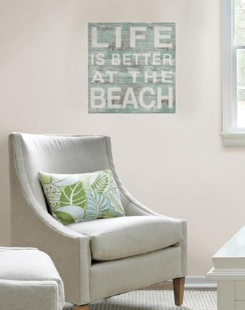 Better at the Beach Wall Quote