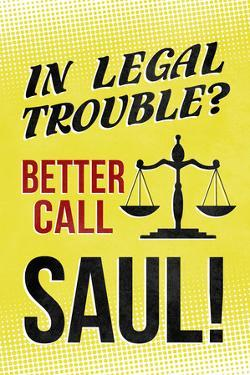 Better Call Saul! Television Plastic Sign