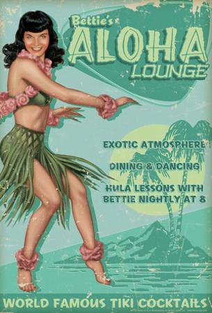 Bettie Page Aloha Lounge
