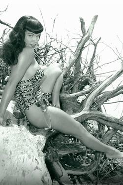 Bettie Page Beach Bettie Pin-Up by Retro-A-Go-Go Poster