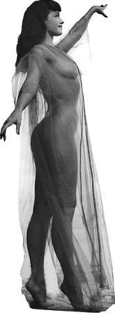 Bettie Page Black and White Lifesize Standup