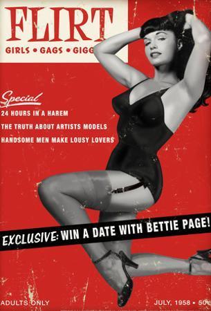 Bettie Page Flirt Pin-Up