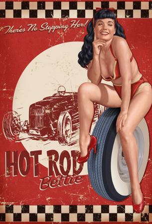 Bettie Page Hot Rod