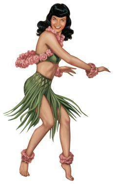 Bettie Page - Hula Standee