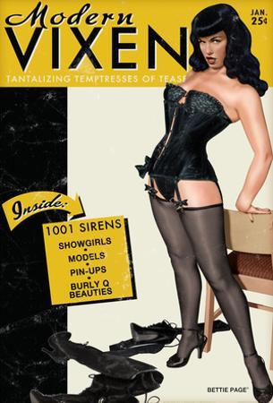 Bettie Page Modern Vixen Pin-Up