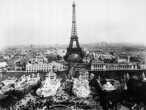 Aerial View of Paris by Bettmann
