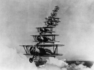 Airplanes in Flight by Bettmann