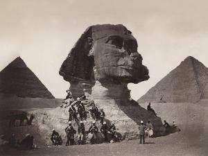 British Soldiers at the Sphinx by Bettmann
