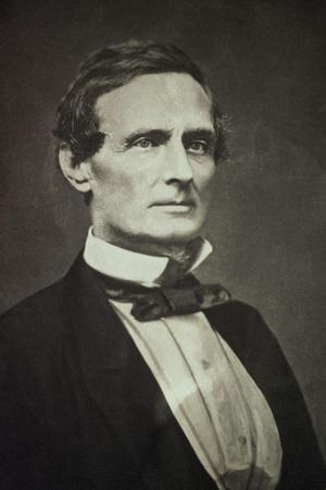 Confederate States President Jefferson Davis as Young Man
