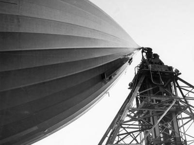 Hindenburg Attached To A Mooring Mast by Bettmann