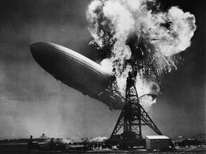 Hindenburg Explosion by Bettmann