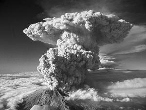 Mt. St. Helens Erupting by Bettmann