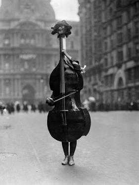 Walking Violin in Philadelphia Mummers' Parade, 1917 by Bettmann