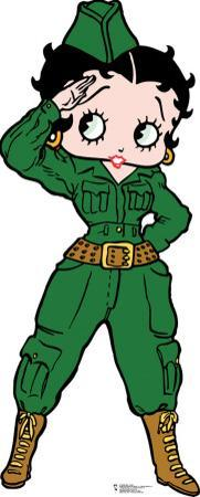 Betty Boop Soldier