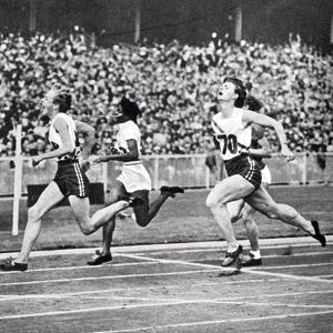 Betty Cuthbert Winning the Gold Medal in the 100 Metres