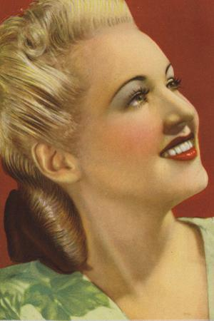 Betty Grable, American Actress and Film Star