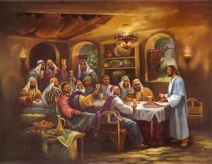 Black Last Supper by Bev Lopez