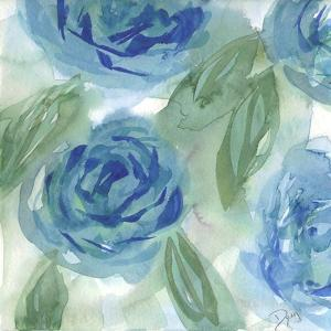 Blue Green Roses I by Beverly Dyer