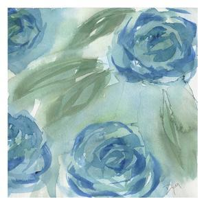 Blue Green Roses II by Beverly Dyer