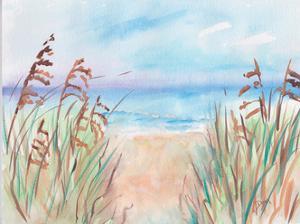 Coastal Sea Path by Beverly Dyer