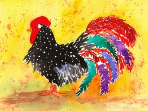 Farm House Rooster I by Beverly Dyer