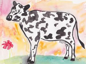 Farmhouse Cow in color by Beverly Dyer