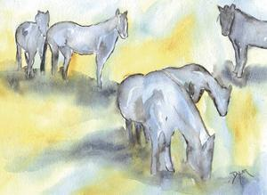 Field of Horses by Beverly Dyer