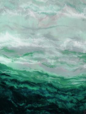 Green Waterfall I by Beverly Dyer