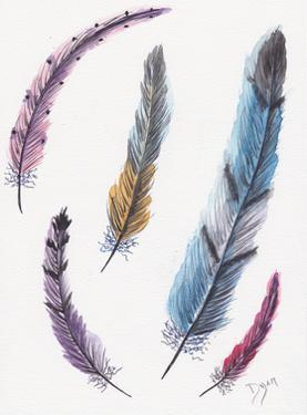 October Feathers II by Beverly Dyer