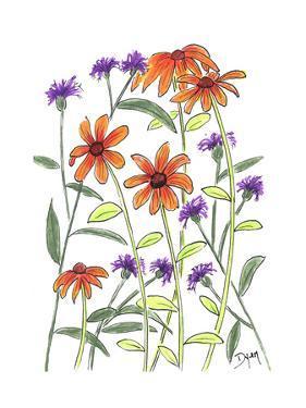 Orange Corn Flower by Beverly Dyer