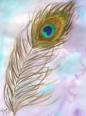 Peacock Feather 1 by Beverly Dyer