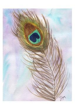 Peacocl Feather 2 by Beverly Dyer