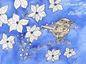 Poinsettia Bird Song by Beverly Dyer