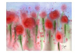 Red Wildflower Meadow by Beverly Dyer