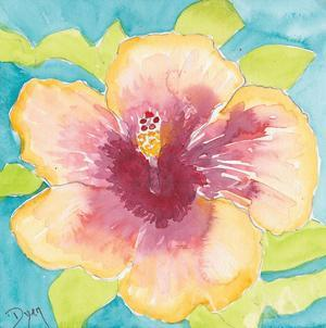 Sunset Hibiscus I by Beverly Dyer