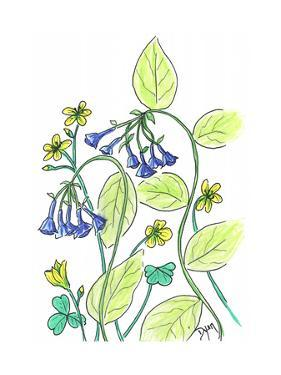 Virginia Bluebells by Beverly Dyer