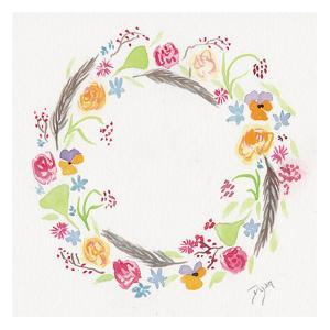 Wildflower Wreath 2 by Beverly Dyer